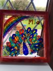 personalised named sun catcher/picture in boxed frame
